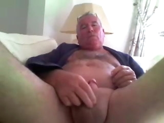 fat Old man strokes more than cam amateur